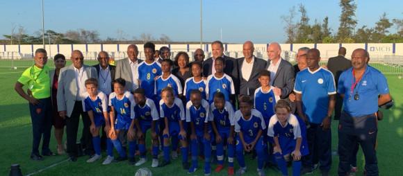 FIFA President at inauguration FFK field